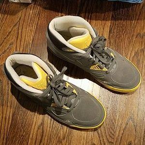 Nike Grey & Yellow High tops 10.5